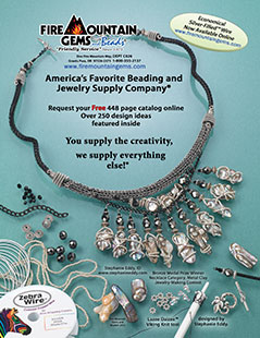 Back Cover Ad as featured on the Spring 2012 issue of Art Jewelry magazine