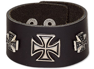Item Number 7264JD Iron Cross Bracelet