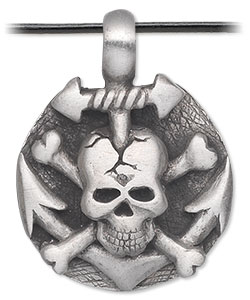 Item Number 3106JD Skull Pendant