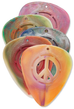 Pick with Cutout Peace Sign Design