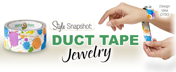 Style Snapshot: Making Jewelry with Duct Tape