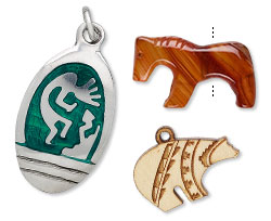 Carved Pendants, Drops and Focals