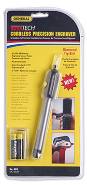 Engraver, General® UltraTech™ Cordless Precision Engraver