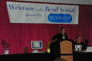 Marlene, Show Coordinator, Inspires Participants At The Bead Social