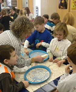 Children Creating Crafts At