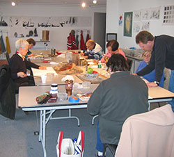 Customers Creating Crafts At The Art Spot