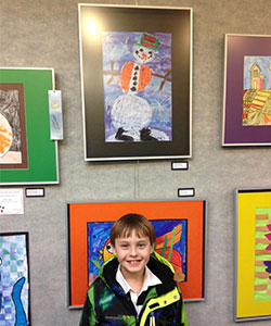 Waupaca, Wisconsin, School Student Participates in Youth Art Month