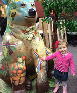 Lila May and One Our Decorative Bears