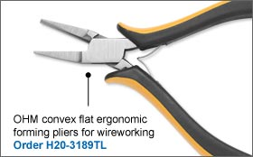 OHM Convex Flat Ergonomic Forming Pliers For Wireworking