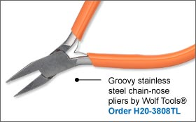 Groovy Stainless Steel Chain-Nose Pliers by Wolf Tools®