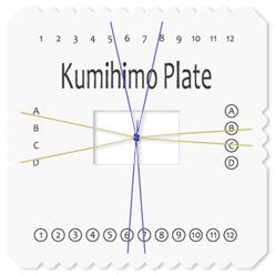 """Beadsmith Kumihimo 6/"""" Square Braiding Plate"""