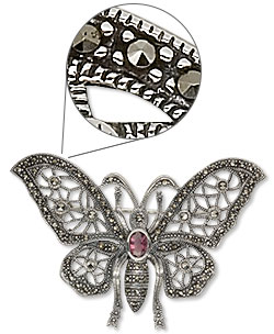Marcasite Pendant/Brooches