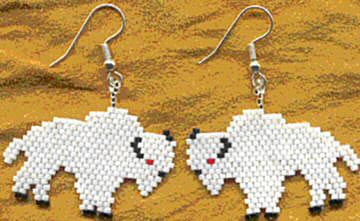 Gifts For Organizers >> Seed Bead Pattern - White Buffalo Earrings - Fire Mountain Gems and Beads