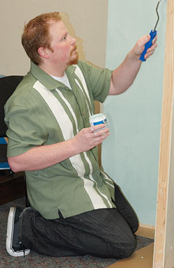 Phil S. Painting The Backdrop For The Vignette