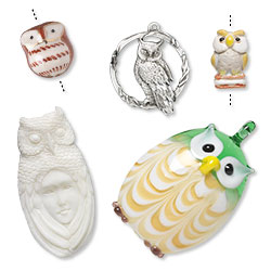 Owl Beads and Components