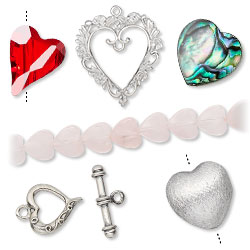 Heart Beads and Components