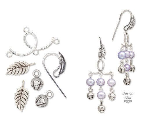 66ba8763c Earrings with Hill Tribes Antiqued Fine Silver Charms, Cultured Freshwater  Pearls and Sterling Silver Drops.
