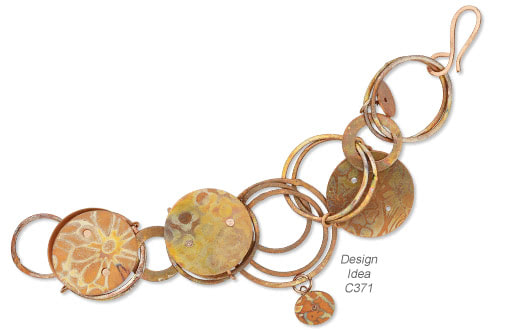 Bracelet With Copper Embellishments And Chain