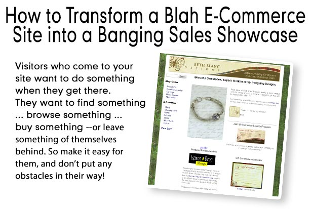 How to Transform a Blah E-Commerce Site into a Banging Sales Showcase