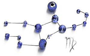 Sapphire Swarovski Crystal Beads and Components