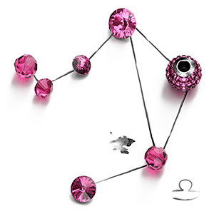 Rose Swarovski Crystal Beads and Components