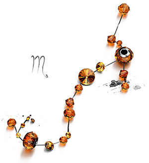 Topaz Swarovski Crystal Beads and Components