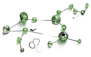 Peridot Swarovski Crystal Beads and Components