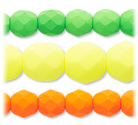 Neon Color Czech Glass Beads