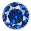 Spinel Blue Cubic Zirconia Gemstone Beads and Components