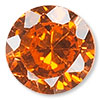 Orange Cubic Zirconia Gemstone Beads and Components