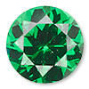 Emerald Green Cubic Zirconia Gemstone Beads and Components