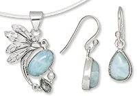 Sterling Silver and Larimar Jewelry