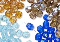 Czech Fire-Polished Glass Beads
