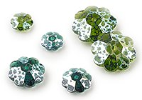 White Patina Effect Marguerite Beads