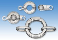 Stainless Steel Self-Closing and Button Clasps