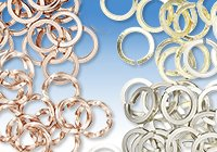 Round Jumprings from Diamond, Square and Twisted Square Wire
