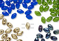 Preciosa Mini Twin™ Pressed Glass Beads