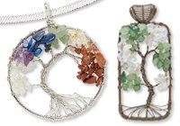 Gemstone Wire-Wrapped Tree of Life Pendants