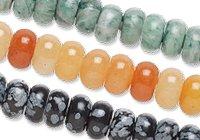 Large-Hole Gemstone Beads