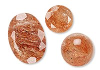 Calibrated Sunstone Cabochons & Faceted Gems