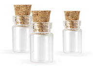 Tiny Glass Bottles with Cork