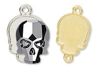 More Swarovski Skull Flat Backs + NEW Settings