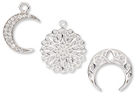 Sterling Silver Base Charms and Component