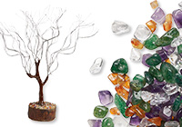 Chip Tree Bases and Gemstone Chip Beads