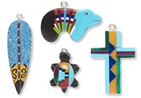 Native American-Inspired Inlaid Focals, Drops and Charms
