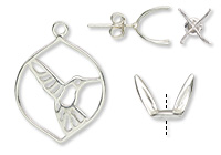 Amoracast® Sterling Silver Findings and Settings