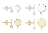 """Vermeil"" and Sterling Silver Earstuds"