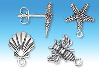 Post-style Sterling Silver Earring Components