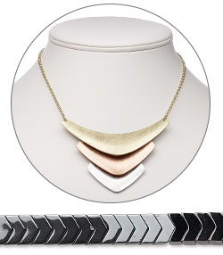 Chevron Shapes Components and Jewelry