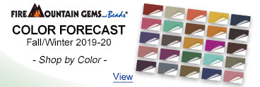 Fire Mountain Gems Color Forecast - Fall/White 2019